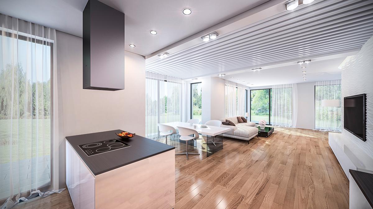 3d Visualisierung Wohnzimmer 2