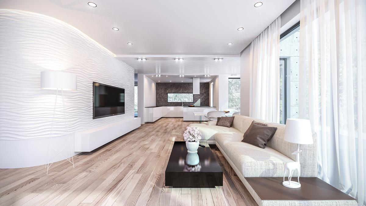 3d Visualisierung Wohnzimmer 1