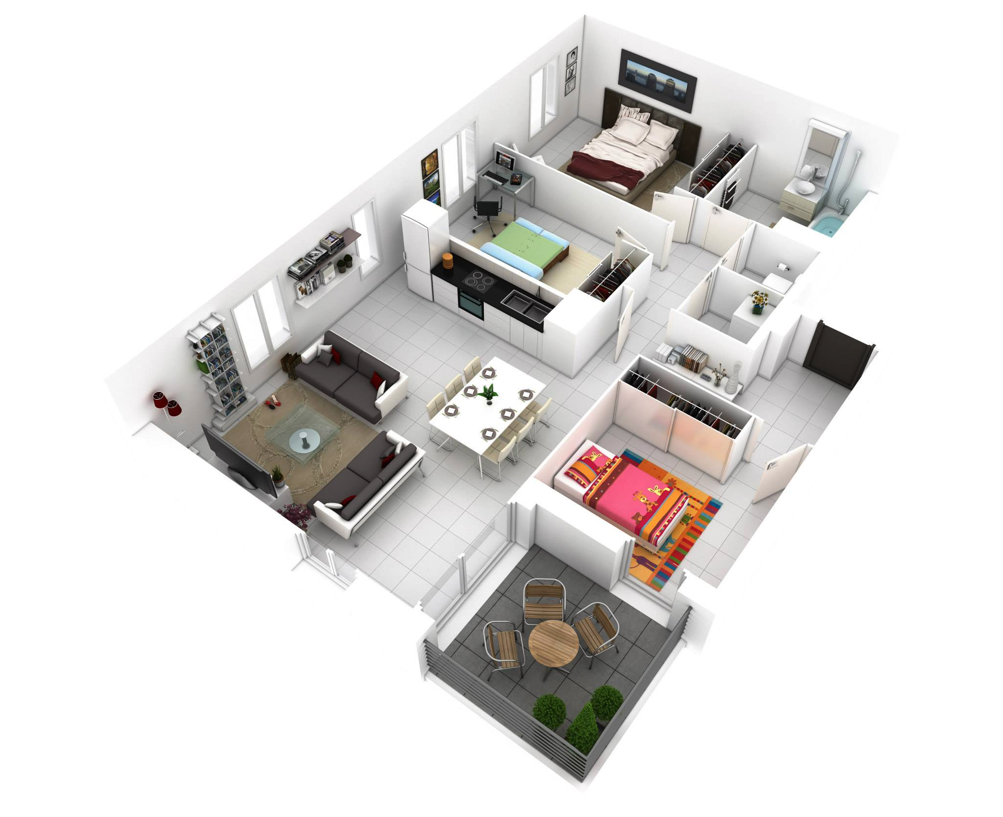 small-three-bedroom