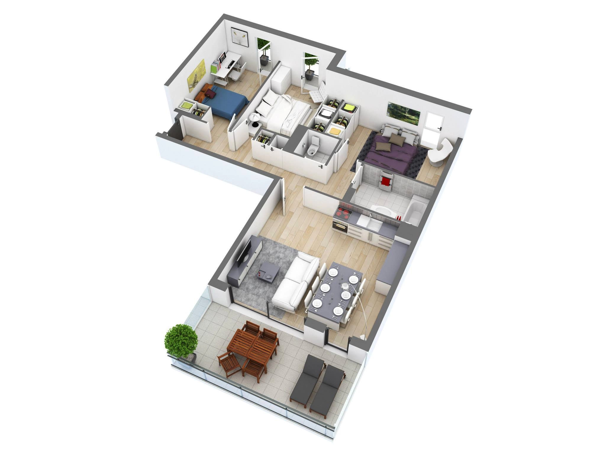 small-three-bedroom-ideas